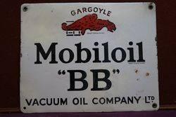 Mobiloil Gargoyle BB Enamel Advertising Sign #