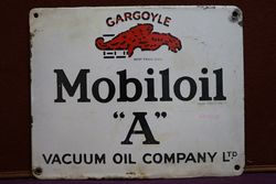 Mobiloil Gargoyle Enamel Advertising Sign