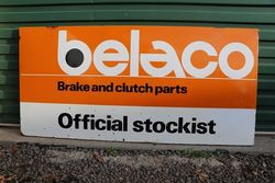 Belaco Official Stockist Enamel Advertising Sign #