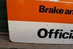 Belaco Official Stockist Enamel Advertising Sign