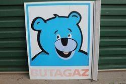 Butagaz Double Side  Aluminium Pictorial Advertising Sign #