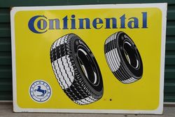 Continental Tyre's Pictorial Enamel Advertising Sign #