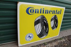 Continental Enamel Advertising Sign