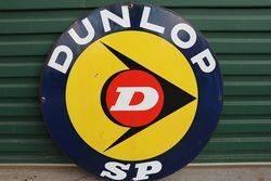 Dunlop SP Double Side Enamel Advertising Sign #