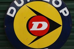 Dunlop SP Double Side Enamel Advertising Sign