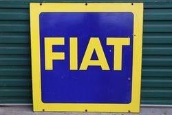 FIAT Double Side Enamel Advertising Sign #