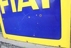 FIAT Double Side Enamel Advertising Sign