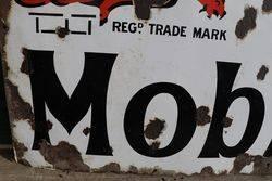 Gargoyle Vacuum Mobiloils Enamel Advertising Sign