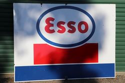 Large Esso Enamel Advertising Sign #