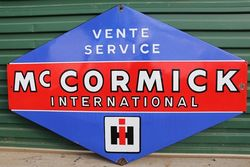 Mc Cormick International Enamel Advertising Sign #