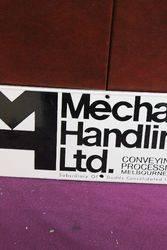 Mechanical Handling Ltd Enamel Advertising Sign
