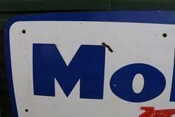Mobil Enamel Advertising Sign