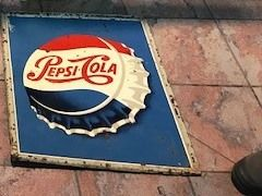 ARRIVING NOVEMBER  Pepsi Cola Advertising Sign