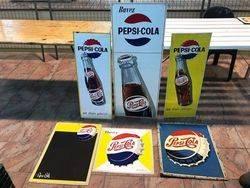 ARRIVING NOVEMBER Pepsi Cola Enamel Advertising Sign
