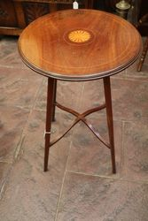 A Small Round Edwardian Inlaid Table #