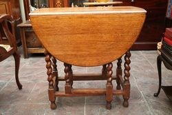 Quality Early 20th Century Oak GateLeg Table