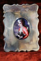 Antique Sheffield Silver 1912 Card Case #