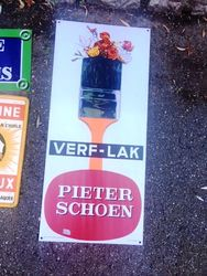 ARRIVING NOVEMBER Pieter Schoen Verflak Advertising Sign