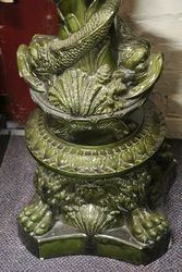 C19th Large Majolica Pedestal C1860