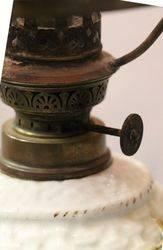 Late C19th German Sitzendorf Porcelain Oil Lamp