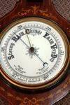 Antique Mahogany Inlaid  Banjo Barometer.