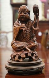 A Well Carved Oriental Buddha on Stand.#