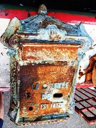 Antique French Letter Box. #