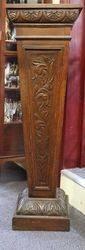 Antique Carved Oak Pedestal English C.1900 #