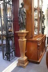 English Walnut Pedestal 19th Century