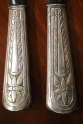 Pair Of Silver Handle Servers