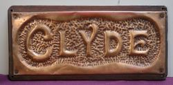 "Genuine House Name Plate. ""CLYDE"" #"