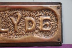 Genuine House Name Plate andquotCLYDEandquot
