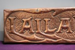 Genuine House Name Plate andquotLALLAROOKHandquot
