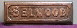 "Genuine House Name Plate. ""SELWOOD"" #"