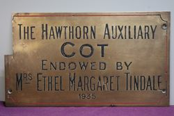 Genuine House Name Plate andquotTHE HAWTHORN AUXILIARY COTandquot