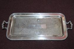 Quality Silver Plate on Copper Tray #