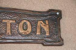 Genuine House Name Plate andquotKENTONandquot