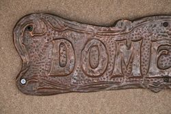Genuine House Name Plate andquotDOMELICKandquot