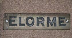 "Genuine House Name Plate. ""ELORME"" #"