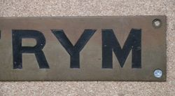 Genuine House Name Plate andquotELTRYMandquot