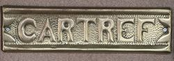 "Genuine House Name Plate. ""CARTREF"" #"
