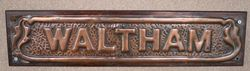 "Genuine House Name Plate. ""WALTHAM"" #"