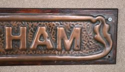Genuine House Name Plate andquotWALTHAMandquot