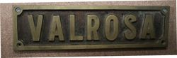 "Genuine House Name Plate. ""VALROSA"" #"