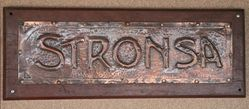 Genuine House Name Plate andquotSTRONSAandquot