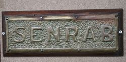 Genuine House Name Plate andquotSENRABandquot