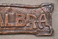 Genuine House Name Plate andquotRETSALBRAandquot