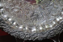 Silver Plated Round Tray