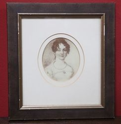 Vintage Framed Portrait of a Lady. #