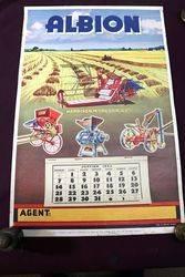 Farming Poster.  1934 Albion Calendar-Poster.#